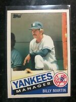 1985 Topps Traded Billy Martin baseball card #78T -  New York Yankees    NM-MT