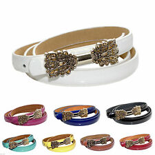 Unbranded Faux Leather Skinny Belts for Women