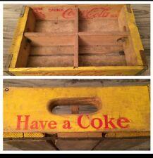(#30) Vintage 1960's Have A Coke Coca Cola Wood Soda Pop Case Crate