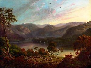 John Glover - Landscape view in Cumberland, Museum Art Poster, Canvas Print
