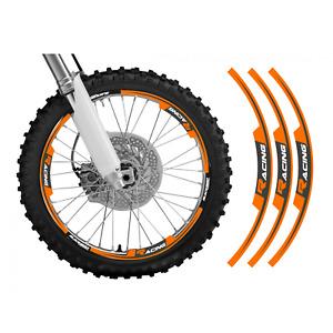 adesivi moto grafiche per cerchi in Crystal Blackbird cross enduro arancione