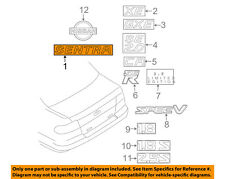 NISSAN OEM 00-03 Sentra Trunk Lid-Emblem Badge Nameplate 848955M000