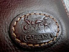 brand new burgundy real leather  Carriage bifold men's wallet/purse