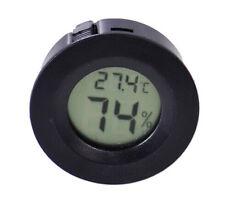Round Digital Cigar Humidor Temperature Thermometer Tool Black ASS
