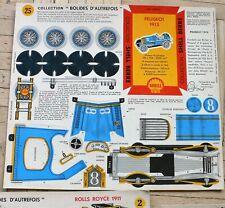 von 1959: SHELL Auto Bastelbögen - Peugeot Rolls-Royce Mercedes Alfa Renault