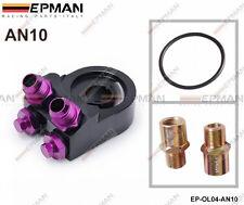 Epman Racing Universal Filtro De Aceite Enfriador Sandwich Placa 4 Puertos Adaptador An10