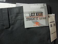 NWT DOCKERS 38 x 29 EASY KHAKI pants gray grey FLAT FRONT STRAIGHT FIT men's NEW