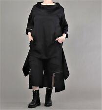 ♦ Kekoo Hose/Hosenrock  Größe 3,4 schwarz, Reißverschlüsse, Schlitze ♦