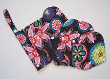 Reusable Bamboo Menstrual Sanitary Pad 5 Piece Set (Neon Flowers) Christmas Gift