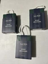 3x Jack Wills Soap On A Rope Musk Xmas Men's Stocking Filler Christmas Present