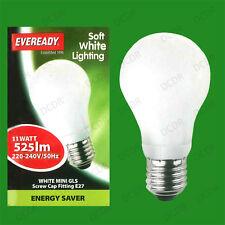4 11W Basse Energie Cfl Mini GLS 3500K Ampoules Lumière Blanche Es E27 Vis