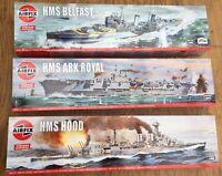 AIRFIX 04202V 04208V 04212V HMS HOOD ARK ROYAL BELFAST model assembly kit 1:600
