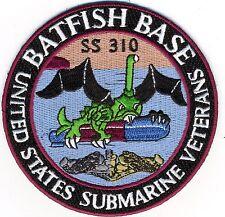 Batfish Base - SS 310 -United States Submarine Veterans - BCPatch Cat. No. C5993