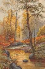 Forest Paysage, Landscape, Signed (Switzerland) Postcard