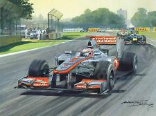 Art Card 2012 Australian GP Melbourne, Mclaren Button, door Michael Turner