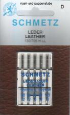 5 Leder-Nadeln Schmetz 130-705H LL  Flachkolben Stärken 80, 90 und 100 Leather