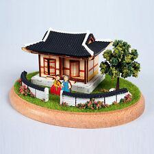 YM984 Diorama Mini House Series - Korean Tile-roof house Wooden Model Kit