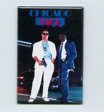 "JIM McMAHON & WALTER PAYTON / CHICAGO VICE - 2"" x 3"" POSTER FRIDGE MAGNET (bears"