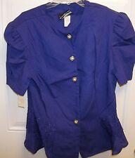 SL Fashions Purple 2 Piece Suit Woman's Size 16 NWT