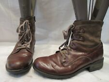 JOSEF SEIBEL BROWN LEATHER ZIP UP ANKLE BOOTS UK 7 EU 41 US 9 (1570)