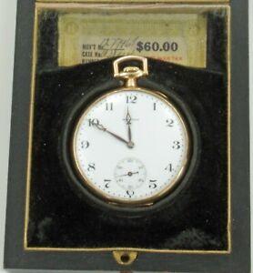 E. Howard 17J Pocket Watch, cased, c 1914