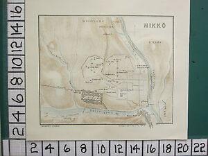 1913 JAPAN JAPANESE TOURIST MAP ~ NIKKO PLAN ~ IRI-MACHI TOYAMA IEMITSU