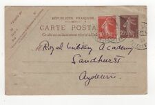 1921 FRANCE Cover DINARD to SANDHURST GB Royal Military Academy UPRATED
