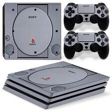 SONY PS4 PlayStation 4 Pro Skin Adesivo Pellicola Protettiva Set - retrò PSONE
