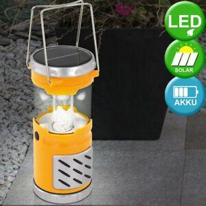 Jaune LED Jardin Lampe Solaire en plein Air Lanterne Dxh 8,5x19,5 CM