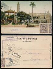 MEXICO to THAILAND 1905 EARLY UB PPC VERA CRUZ