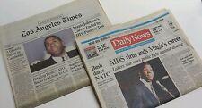 MAGIC JOHNSON HIV BREAKING NEWS LA TIMES & DAILY NEWS NOVEMBER 8, 1991 - RARE
