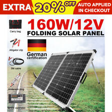 GISTA Mono 160W Folding Solar Panel Kit Caravan Camping Power Charger 12V NEW