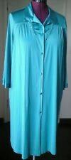 Vanity  Fair Robe Size  XL Short  Button  Up Pine Green . 3/4 Sleeves