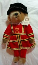 "MerryThought Queen Elizabeth Royal Guard Mohair 16"" Teddy Bear England With Tag"