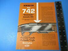 Vintage Remington Model 742 Woodmaster Automatic Rifle Advertising Sheet  M6638