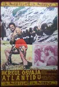 1961 Original Movie Poster Hercules Captive Women Ercole conquista Atlantide