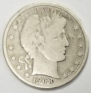 1908 D Barber Half Dollar Fine