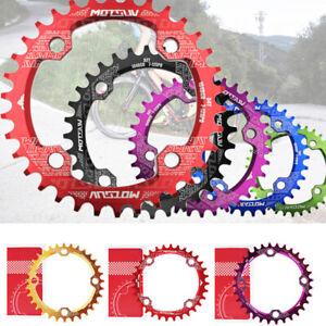 MTB Bike 104BCD Chainring Chainwheel Crank Narrow Wide Round/Oval 32/34/36/38T