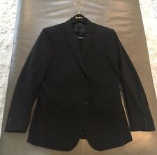 Theory Mens Wellar HC Marlo New Tailor Black Stretch Wool Suit 42R 36x32 $795