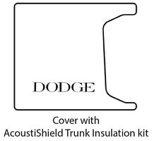 1955 1956 Dodge Coupe / Sedan Car Trunk Rubber Floor Mat Cover with ME-100 Dodge