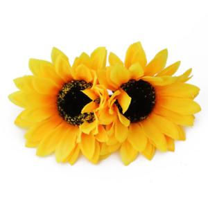2Pcs Women's Girls Sunflower Flower Clip Hairpin  Bow Hair Accessories