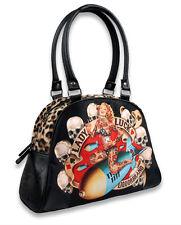 LIQUOR BRAND Tatuaje Lady Luck SKULLS Pin Up bomba Bolos Bolso Bolso De Mano Rockabilly