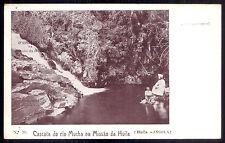 Missionary w/black Boy MUCHA - CATHOLIC SCHOOL HUILA. Old postcard ANGOLA AFRICA