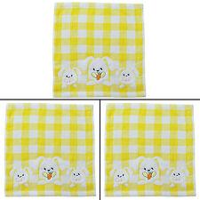 Women Checked Pattern Cotton Handkerchief Ladies Child Hankie Lot Of 3 Pcs 4922