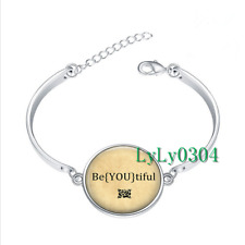 Be YOU tiful glass cabochon Tibet silver bangle bracelets wholesale