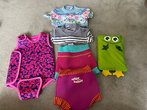 6-18 Month Swimming Bundle Jojo Vest, Happy Nappies And More