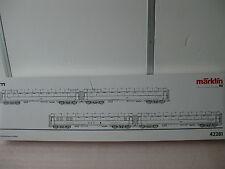 "MÄRKLIN 42281 Schnellzug Wagenset F-Zug ""Glückauf"" DB MHI Metall NEU"