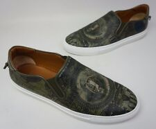 Givenchy Dollar Print Leather Skate Shoe Men's Green Sneaker Size 43 EU / 10 US