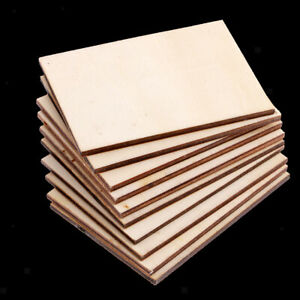 20Pc Rectangle Wooden Craft Blank Wood Plaque Sign DIY Pyrography Woodwoking