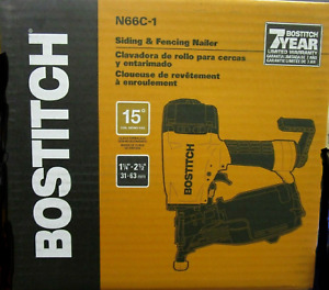 "Bostitch N66C-1 1-1/4"" to 2-1/2"" 15 Deg. Coil Siding Nailer NEW"